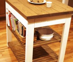 rustic small kitchen island cart