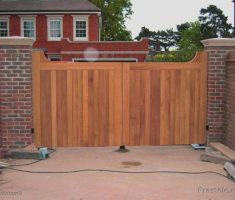 rustic traditional front gate designs wood material