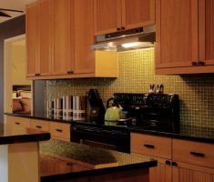 rustic wooden ikea kitchen cabinets varnisihing