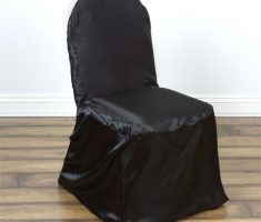 satin black folding chair covers