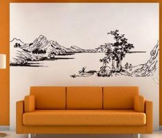 scenery mountain paint for removable wall decals inspirations