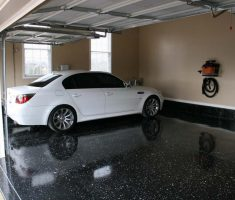 shiny garage floor cover coating