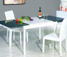 simple elegant modern chair design with glass kitchen table