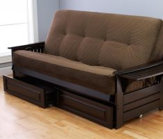 sleeper and storage small sofa bed design with arms