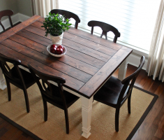 small centerpieces farmhouse dining table reclaimed with chair