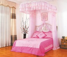 small disney princess bedroom with canopy