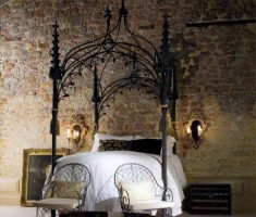 small gothic modern canopy beds