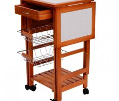 small kitchen island cart with drawers