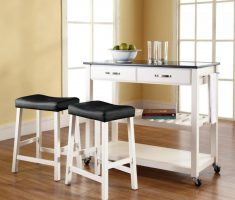 small kitchen island cart with tools
