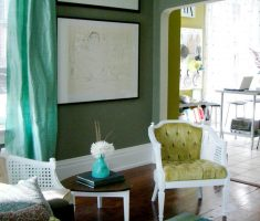 small living room with green lime paint colors for living room