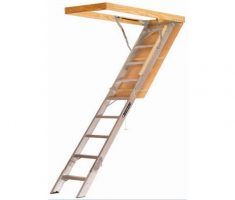 small metal pull down attic stairs