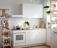 small minimalist ikea kitchen cabinets white color scheme