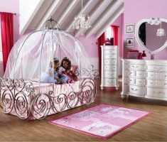 small modern carriage bed disney princess bedroom