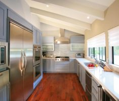 small modern window treatments for kitchen