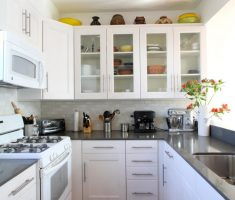 small narrow ikea kitchen cabinets white colour scheme