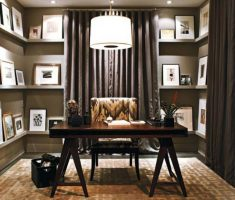 small office with modern light shade designs for home office