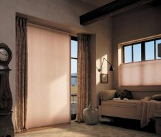 small window treatments for sliding glass doors