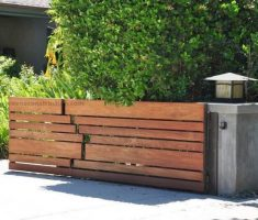small wooden front gate designs for minimalist exterior