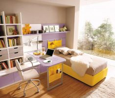 small yellow girls bedroom furniture