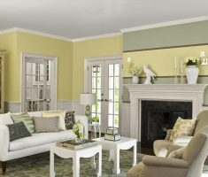 soft green and white paint colors for living room