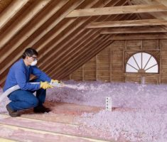 spray attic insulation blown