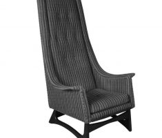 strippes design of high back chair with grey color