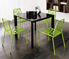 stylish metal modern chair design green colours