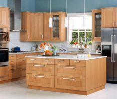 stylish modern wooden ikea kitchen cabinets design