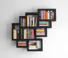 stylish small wall mount shelf design