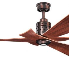 stylish wooden ceiling fans with lights by kichler style