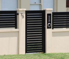 tiny black front gate designs for small house