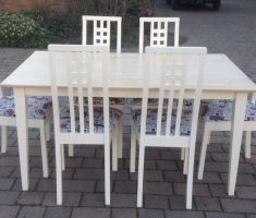traditional white dining table and chairs shabby chic