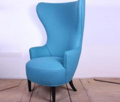 trendy blue sea high back chair with arm