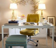 twin table light shade designs for small home office