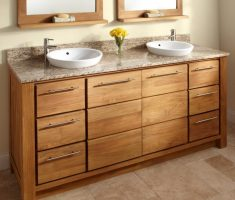 twin vessel sink vanities with drawers