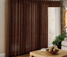 unique brown curtains for sliding glass doors for natural material