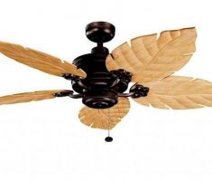 unique ceiling fans with lights by kichler with leafe shape