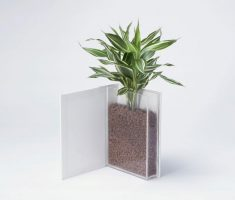 unique diy modern garden pots like open book