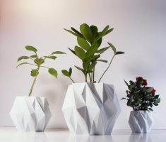 unique futuristic modern garden pots for indoor with diamond shape