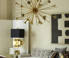 unique golden and black table lamps for living room decor