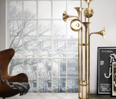 unique golden trumpet table lamps for living room decorations