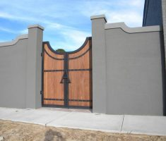 unique old style front gate designs with wall fence design