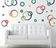 unique round circles removable wall decals inspirations