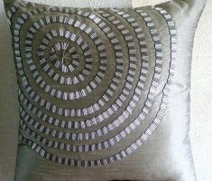 unique silver throw pillow covers design with embroidery clock
