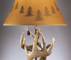 unique table lamps for living room from deer antlers