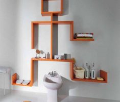 unique wall mount shelf design like human men shape