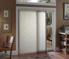 white curtain for window treatments for sliding glass doors