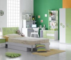 white girls bedroom furniture with green wall decor