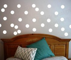 white metalic polka dot wall decals for bedroom