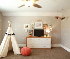 white polka dot wall decals for kids play room